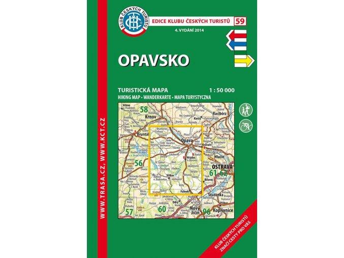 Opavsko -  mapa KČT č.59