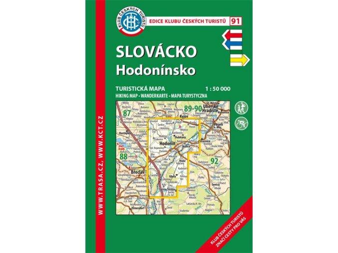 Slovácko -  Hodonínsko -  mapa KČT č.91