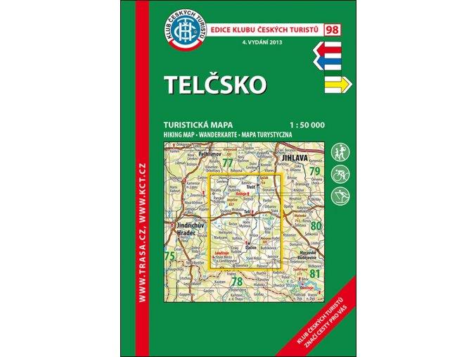 Telčsko -  mapa KČT č.98