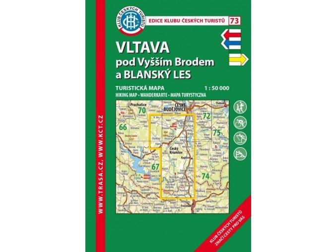 Vltava pod Vyšším Brodem a Blanský les -  mapa KČT č.73