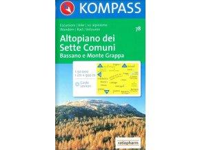Altopiano dei Sette Comuni, Bassano e Monte Grappa (Kompass - 78)