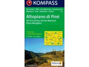 Altopiano di Piné, Val di Cembra, Val dei Mocheni (Kompass - 075)