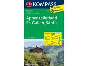 Appenzell, StGallen, Santis (Kompass - 112)