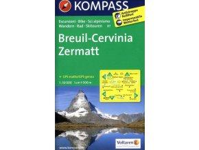 Breuil, Cervinia, Zermatt (Kompass - 87)