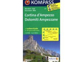 Cortina d'Ampezzo, Dolomiti Ampezzane (Kompass - 617)