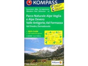 Parco Naturale Alpe Veglia e Alpe Devero, Valle Antigorio, Val Formazza, Val Divedro, Domodossola (Kompass - 89)