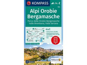 Alpi Orobie Bergamasche, Valle Brembana, Valle Seriana (Kompass - 104)