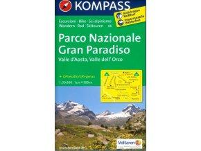 Gran Paradiso, Valle d'Aosta, Valle dell'Orco (Kompass - 86)