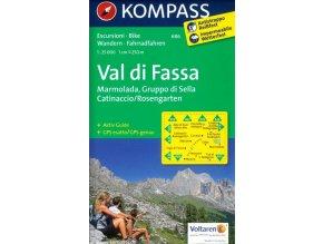 Val di Fassa, Marmolada, Gruppo di Sella, Catinaccio, Rosengarten (Kompass - 686)