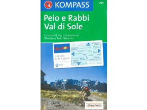 Val di Sole, Péjo e Rabbi (Kompass - 095)