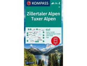 Zillertaler Alpen, Tuxer Alpen (Kompass - 37)