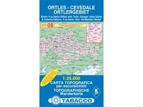 Ortler, Ortles, Cevedale (Tabacco - 08)