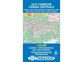 Karnské Alpy, Alpi Carniche (Tabacco - 09)