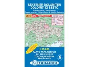 Sextenské Dolomity, Dolomiti di Sesto (Tabacco - 010)