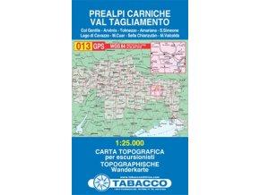 Karnské Předalpy, Val Tagliamento (Tabacco - 013)
