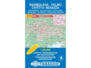 Marmolada, Pelmo, Civetta, Moiazza (Tabacco - 015)