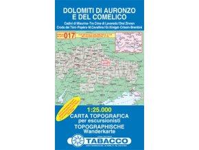 Dolomity oblast Auronzo a Comelico (Tabacco - 017)