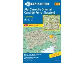 Karnské Alpy východ, Canal del Ferro (Tabacco - 018)