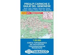 Karnské Předalpy a Giulie del Germonese (Tabacco - 020)