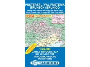 Pustertal, Val Pusteria, Bruneck, Brunico (Tabacco - 033)
