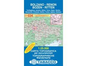 Bolzano, Renon, Bozen, Ritten, Tschögglberg (Tabacco - 034)