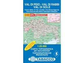 Val di Peio, Val di Rabbi, Val di Sole (Tabacco - 048)