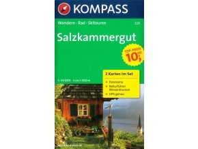 Salzkammergut, Solná komora, set 2 map (Kompass, 229)