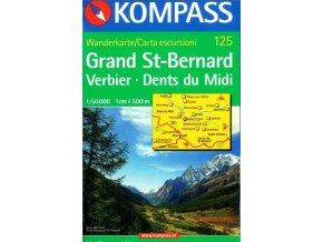 Grand St-Bernard, Verbier, Dents du Midi (Kompass - 125)