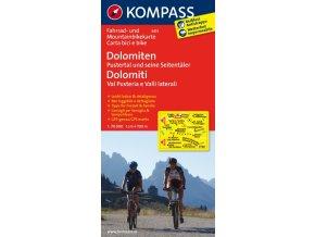 Dolomiten, Pustertal, Seitentäler(cyklomapa Kompass č. 3413)