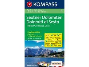 SextnerDolomiten, Dolomiti di Sesto (Kompass - 58)