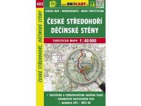 České středohoří, Děčínské stěny - turistická mapa č. 403