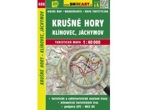 Krušné hory - Klínovec, Jáchymov - turistická mapa č. 406