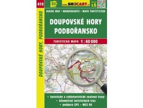Doupovské hory, Podbořansko - turistická mapa č. 410
