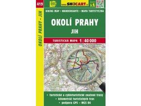 Okolí Prahy - jih - turistická mapa č. 419