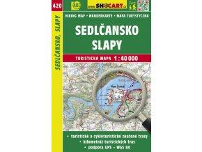 Sedlčansko, Slapy - turistická mapa č. 420