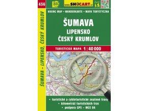 Šumava - Lipensko, Český Krumlov - turistická mapa č. 436