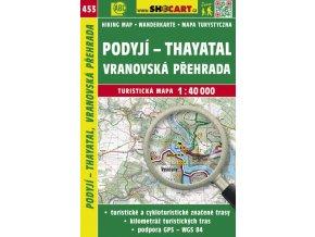Podyjí - Thayatal, Vranovská přehrada - turistická mapa č. 453