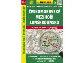 Českomoravské mezihoří, Lanškrounsko - turistická mapa č. 454