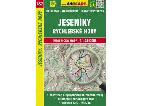 Jeseníky, Rychlebské hory - turistická mapa č. 457