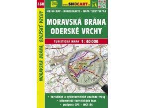 Moravská brána, Oderské vrchy - turistická mapa č. 468
