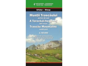 Trascau - jižní část - turistická mapa