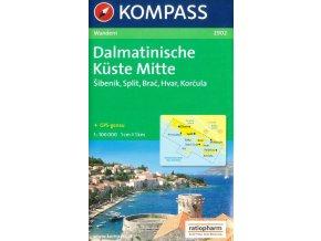Dalmatinische Küste Mitte, Dalmátské pobřeží střed (Kompass - 2902)