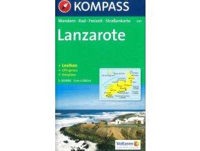 Lanzarote, turistická mapa (Kompass - 241)