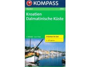 Dalmatinische Küste, Dalmátské pobřeží (set 3 map, Kompass - 2900)