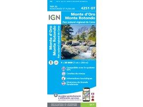 Monte d´Oro, Monte Rotondo - turistická mapa (IGN 4251OT)