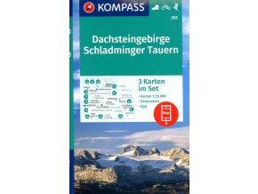 Dachsteingruppe, Schladminger Tauern (set 3 map, Kompass – 293)