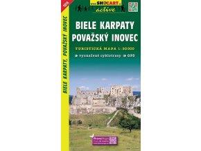BieleKarpaty,PovažskýInovec - turistická mapa (shocart č.1074)