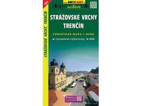 Strážovskévrchy,Trenčín - turistická mapa (shocart č.1075)