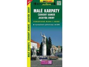 MaléKarpaty,Červ.Kameň,jaskyňaDriny - turistická mapa (shocart č.1079)