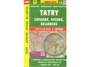 Tatry - Vysoké, Západné, Belianské - turistická mapa Shocart č.473